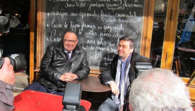 Patrick Mennucci et Jean-Marc Coppola, le 24 mars.  © (LF)