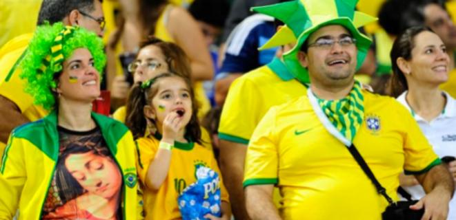 Supporters lors de la finale de la Coupe des confédérations, en juin 2013. © Tânia Rêgo-ABr