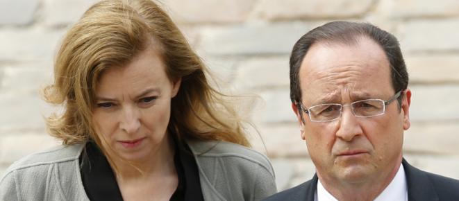François Hollande et Valérie Trierweiler.