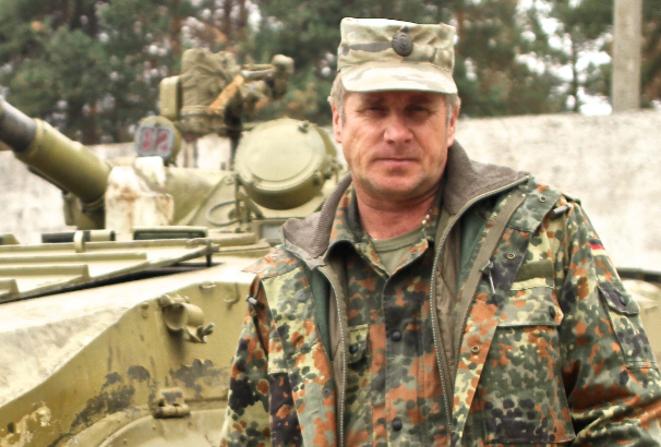 Valentin, commandant du bataillon Aidar. © Laurent Geslin