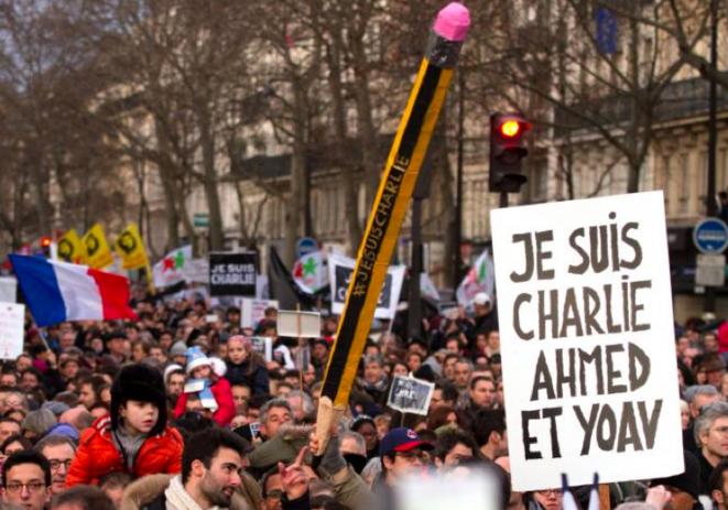 Manifestation du 11 janvier 2015 à Paris. © Thomas Haley