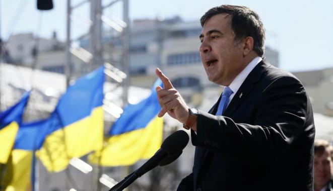 Mikhaïl Saakachvili à l'occasion d'un meeting politique à Kiev en mars 2014. © Reuters