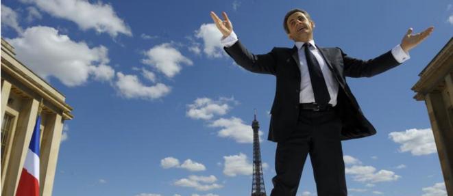 Nicolas Sarkozy au Trocadéro, le 1er mai 2012.