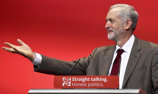 Jeremy Corbin au congrès travailliste de Brighton. © Reuters