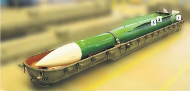 Un exemplaire du missile de la série 9M38-1 qui a abattu le Boeing.