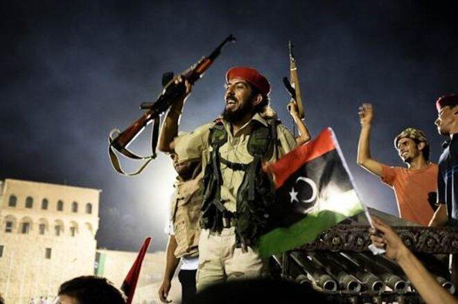 Place Verte, Tripoli, dimanche 28 août. © T. Cantaloube