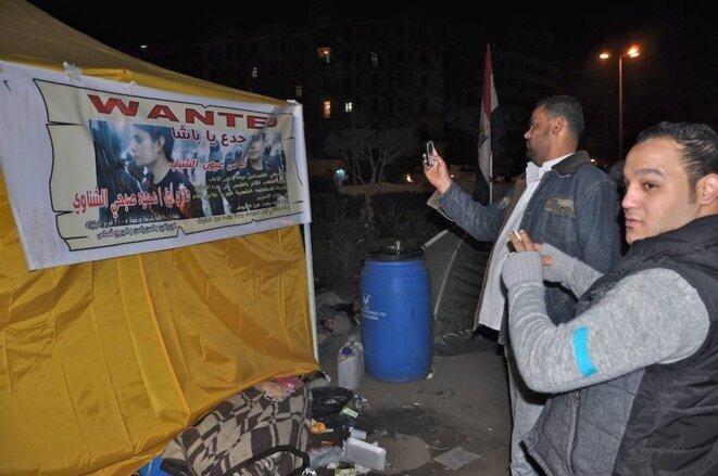 Place Tahrir, dans la nuit de mardi à mercredi.