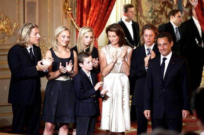 2007, cérémonie d'investiture à l'Elysée: c'était déjà Sarkozy-Saison 2 © (dr)
