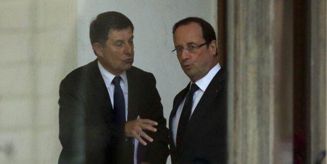 Jean-Pierre Jouyet et François Hollande. © (Reuters)