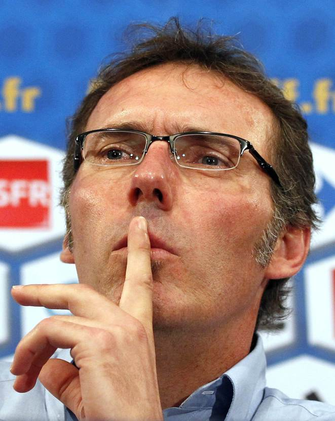 Hush, hush:France coach Laurent Blanc.