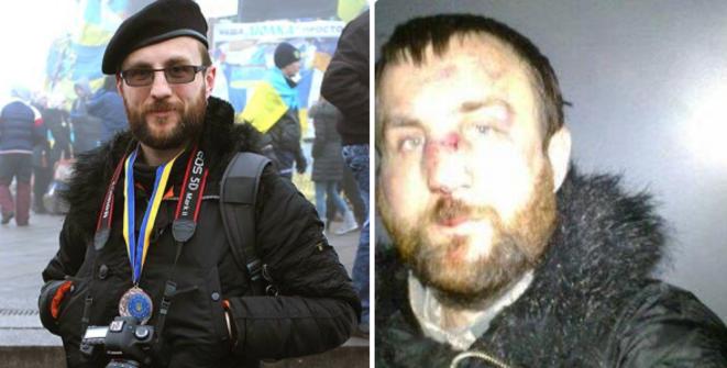 Marian Havriliv avant et après son arrestation.
