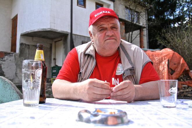 Marinko  Sekulić, journaliste à Srebrenica. © Laurent Geslin