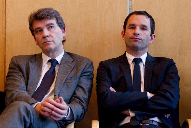 Arnaud Montebourg et Benoît Hamon. © Reuters