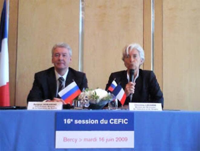 Sobianine et Lagarde, le 16 juin 2009.