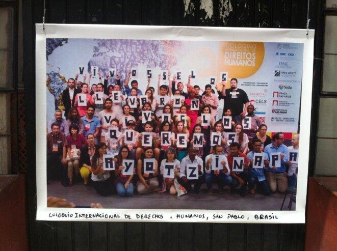 Photo et message de solidarité d'une école brésilienne. © EB.