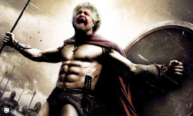 Beppe Grillo, en gladiateur du peuple.