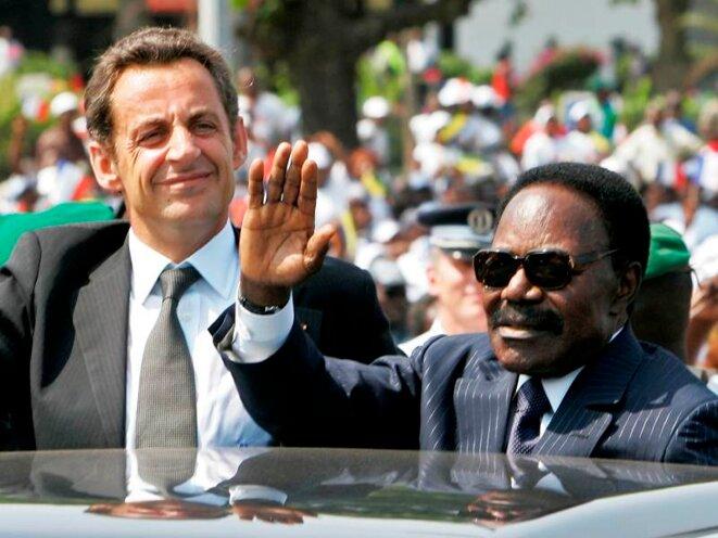Nicolas Sarkozy et Omar Bongo. © (dr)