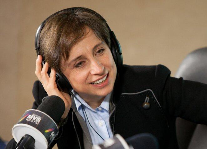 Carmen Aristegui, l'une des journalistes les plus réputées, brutalement licenciée le 11 mars.