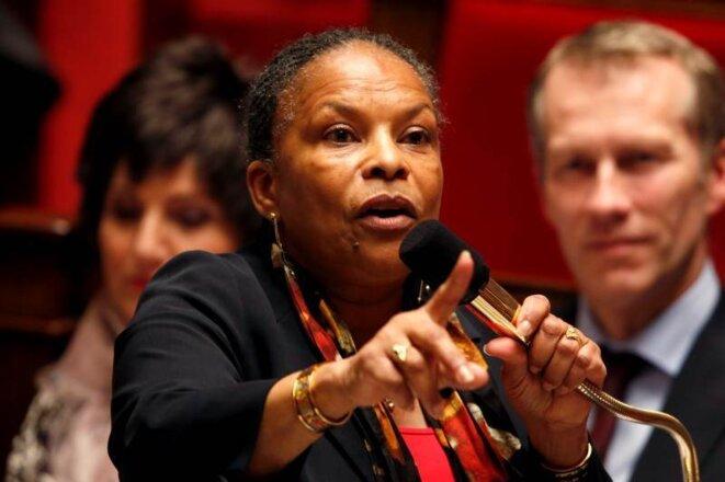 Christiane Taubira et l'exemple de la bataille du «mariage pour tous».