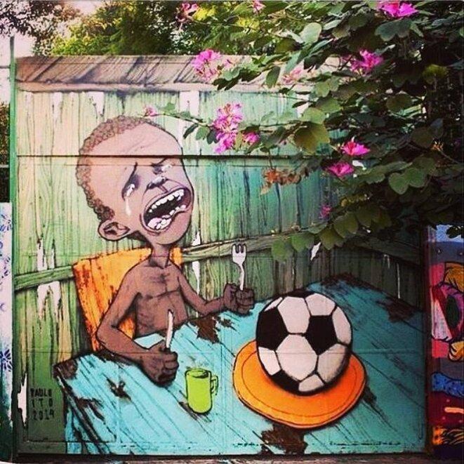 Fresque de l'artiste Paulo Ito à Sao Paulo