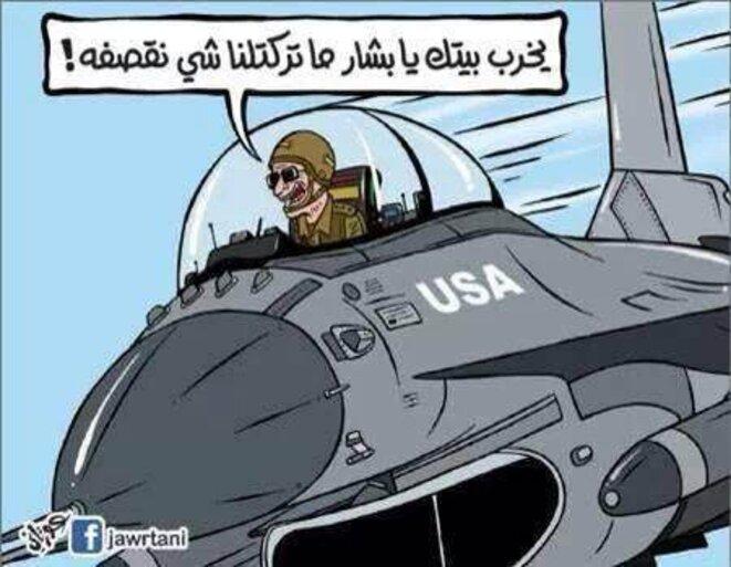 « Merde, ce con de Bachar ne nous a plus rien laissé à bombarder. »
