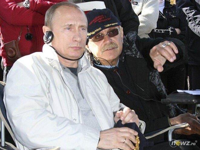 Poutine avec le cinéaste Nikita Mikhalkov.
