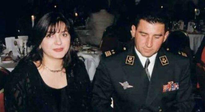 Gotovina et son épouse Dunja, collaboratrice du ministre de la défense croate. © (dr)