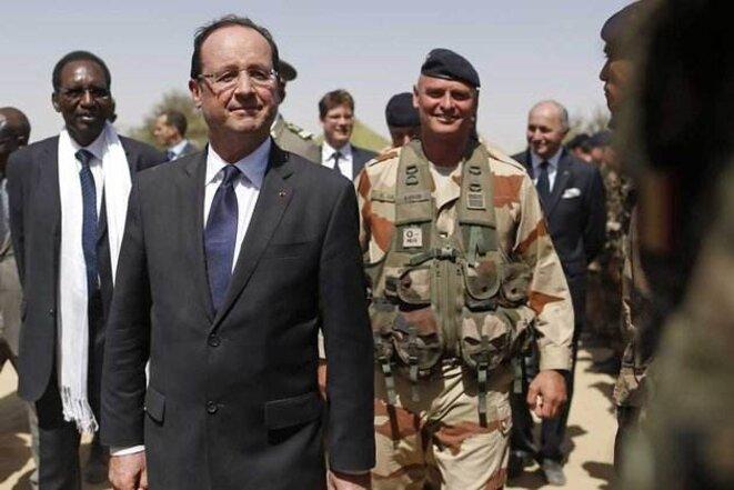 François Hollande en visite à Bamako en février 2013.