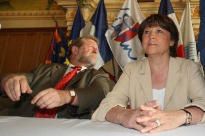 Jean-Pierre Kucheida et Martine Aubry en 2008.