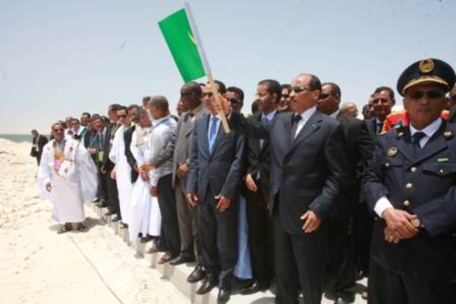 Inauguration de la zone franche par le président Aziz.