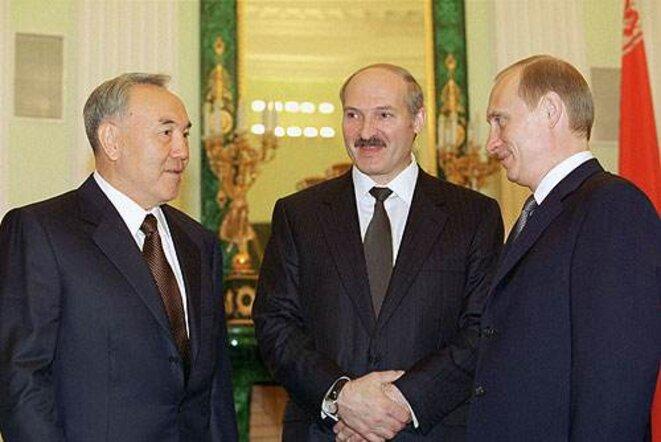 Nazarbaïev, Loukachenko et Poutine.
