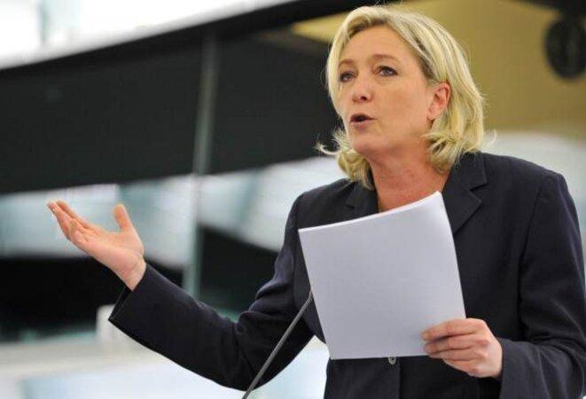 La candidate du Front national.