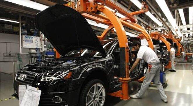 Chaîne de montage chez Audi. Le salaire minimum est déjà supérieur à 8,50 euros de l'heure.