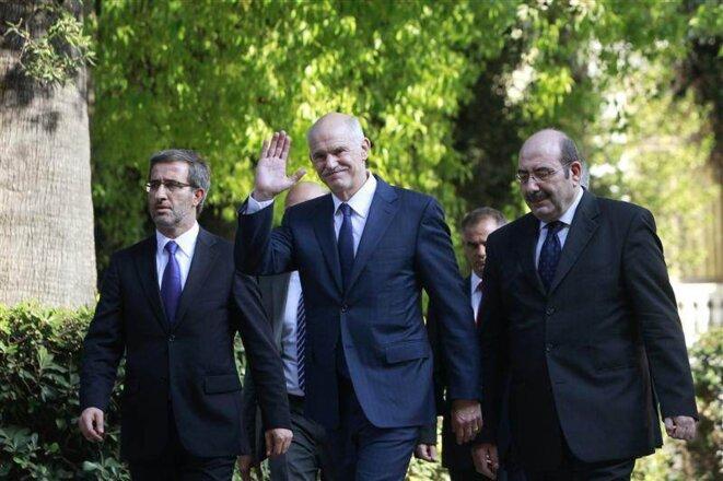 Georges Papandréou, après l'annonce de sa démission.