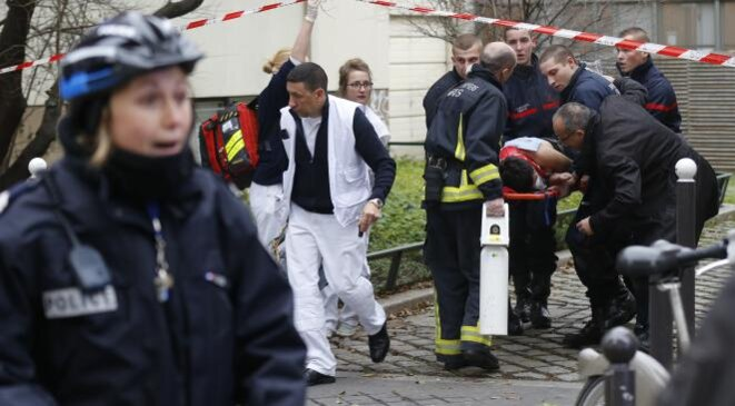 L'attentat contre «Charlie Hebdo», le 11 janvier 2015. © Reuters