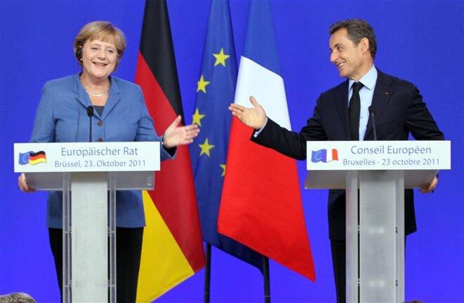 Conférence de presse du 23 octobre: un geste consenti par Merkel.