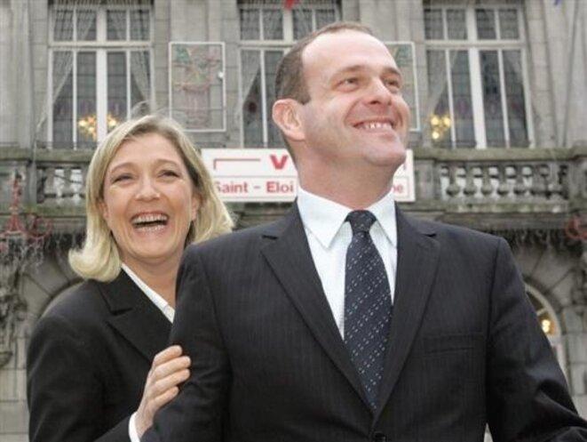Marine Le Pen et Steeve Briois.