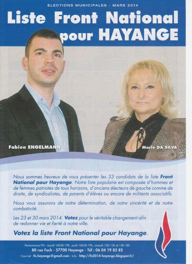 La même Marie da Silva, devenue candidate FN.