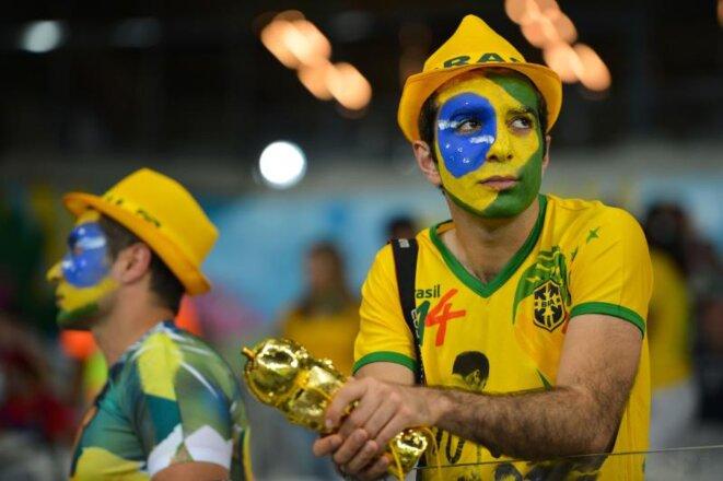 Bon nombre de supporters ont quitté le stade avant même la fin du match. © Marcello Casal Jr/ Agência Brasil