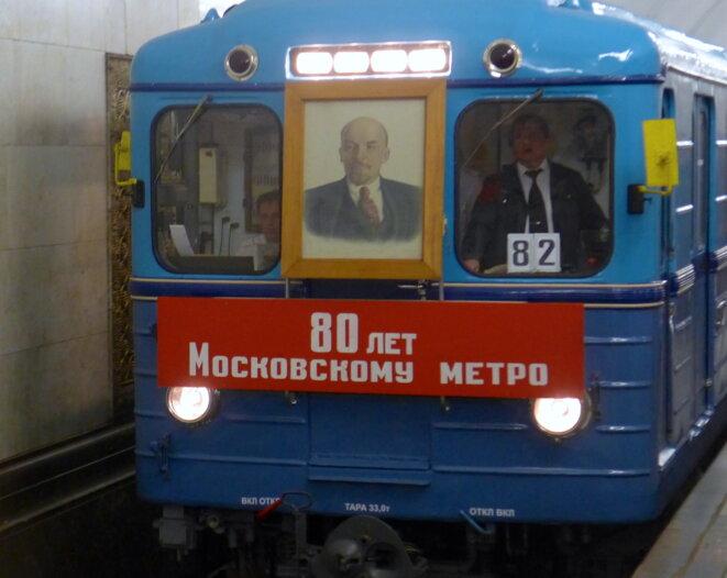 80 ans du métro Moscovite. Rame de type G construite à partir de 1939.