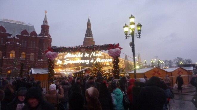 Marché de Noël de Strasbourg à Moscou, décembre 2013 © CB