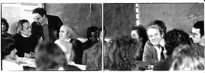 Gilles Deleuze avec Jean-François Lyotard et François Châtelet (DR)