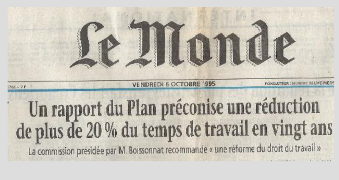 Le Monde - 6 octobre 1995 - RTT © Collectif Roosevelt