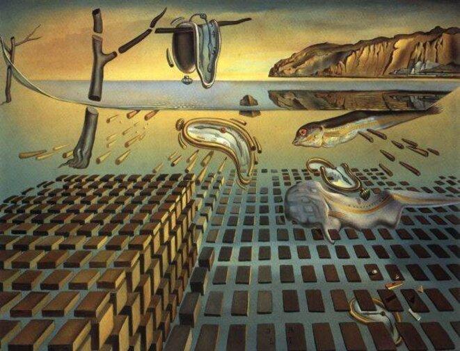 """Tableau de Salvador Dali """"Désintégration de la persistance de la mémoire"""" © Salvador Dali"""