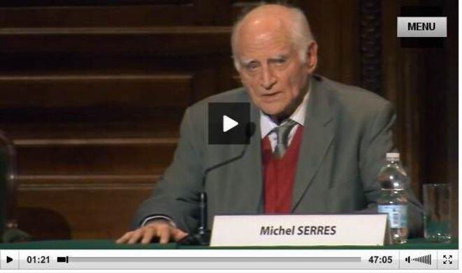 Conférence de Michel Serres du 29.01.2013 à la Sorbonne © capture écran
