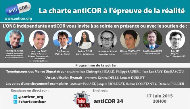 """Montpellier : """"La charte @anticor_org à l'épreuve de la réalité"""" © antiCOR34"""