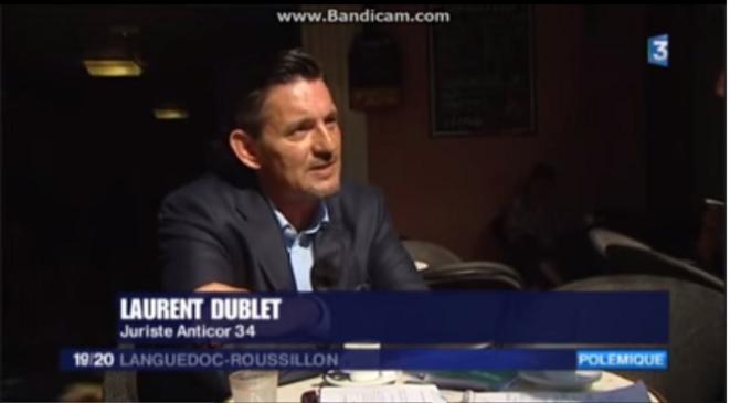 Laurent Dublet - Juriste et membre d'antiCOR © France3 Languedoc Roussillon