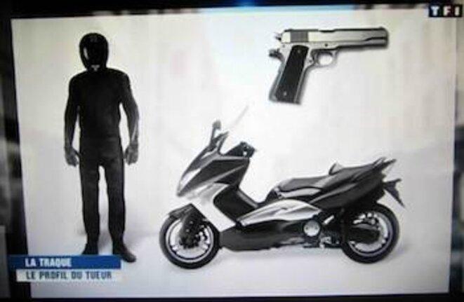 La fabrication d'un anti-héros, photo de l'écran de télévision. © pol