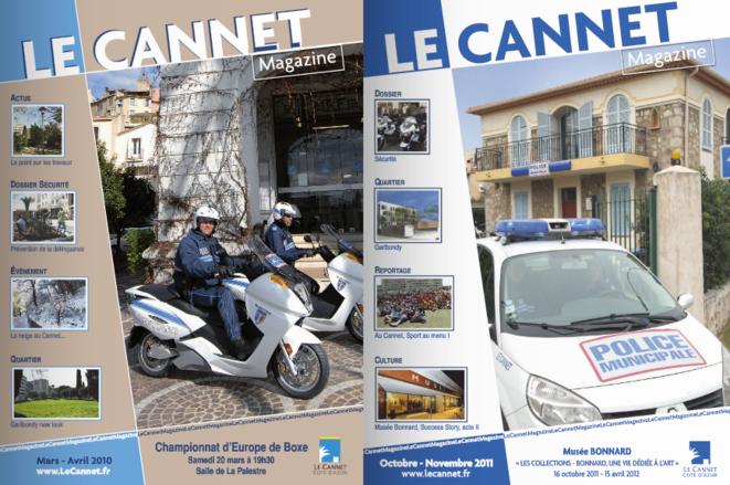 Les numéros de mars-avril 2010 et octobre-novembre 2011 du magazine municipal