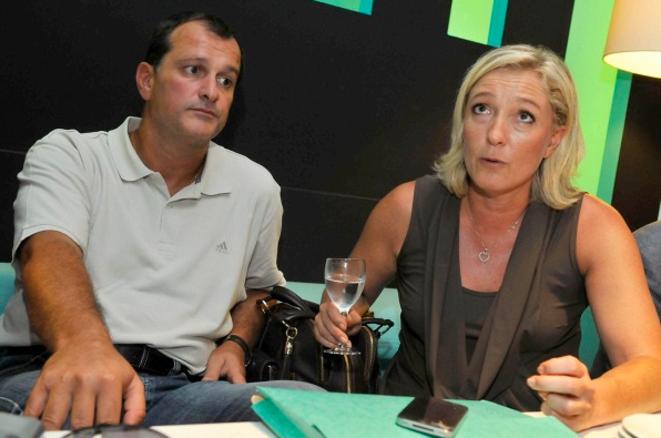 Louis Aliot et Marine Le Pen à l'université d'été du FN, en septembre 2011, à Nice.